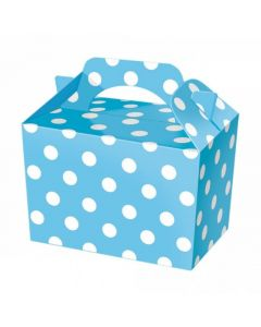 Blue Polka-Dot Cake And Sweet Box With Handle (Pack of 5)