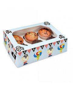 6 Cupcake Box`Pirate Design` (Pack of 2)