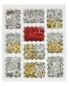 Assorted Silver & Gold Numerals in a Display Box