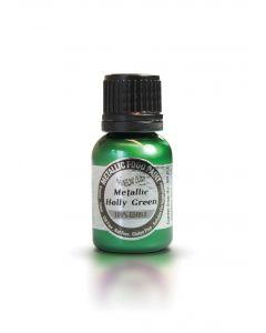 Rainbow Dust Metallic Edible Paint: Holly Green (25ml)