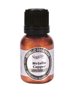 Rainbow Dust Metallic Edible Paint: Copper (25ml)
