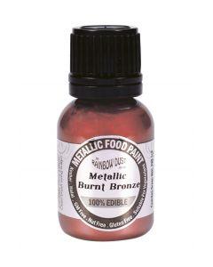 Rainbow Dust Metallic Edible Paint: Burnt Bronze (25ml)