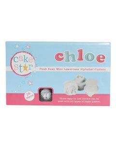 NEW: MINI Cake Star Push Easy Cutters - Lowercase - Alphabet
