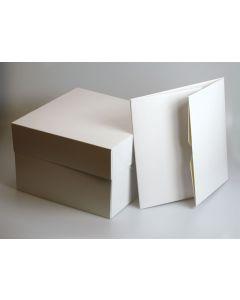 "13""X13""X6"" Stapleless Cake Box & Separate Lid (pack of 5)"