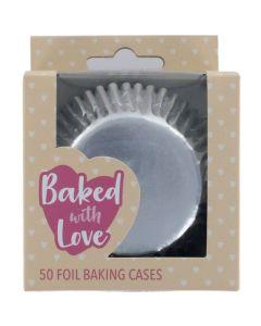 BWL - Silver Foil Baking Cases - 50 Pack