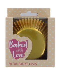 BWL - Gold Foil Baking Cases - 50 Pack