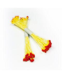 Sugar Lane Red & Yellow Micro Head Stamens (Pack of 50)