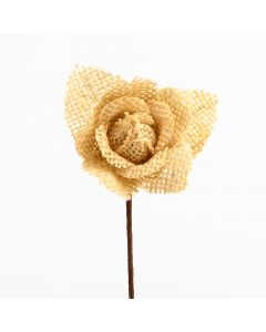 Hessian Rose – Natural (12 Pack)