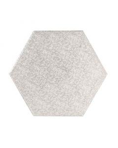 "9"" Silver Hexagonal Drum"