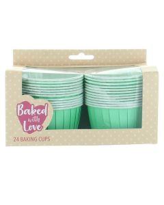 Baking Cup Cases Aqua - pack of 24