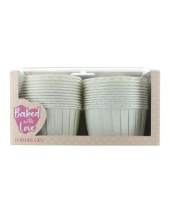 Baking Cup Cases Ivory - pack of 24