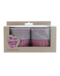 Baking Cup Cases Pink - pack of 24