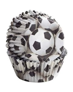 Football Design Cupcake Cases by Wilton - Pack of 36