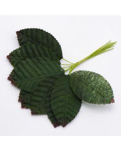 Rose Corsage Leaf Green – 30 Pack