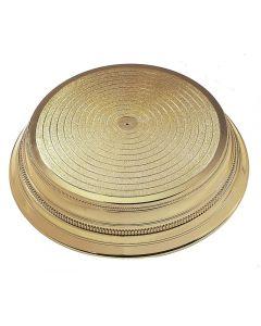 "Round Plastic Cake Stand - Gold - 14"""