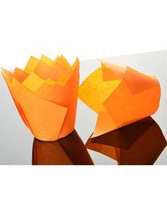 Orange Tulip Cupcake Case - Pack of 50