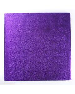 """12"""" (304mm) Cake Board Square Purple"""