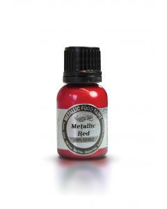 Rainbow Dust Metallic Edible Paint: Red (25ml)