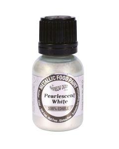 Rainbow Dust Metallic Edible Paint: White (25ml)