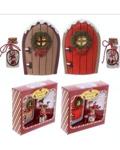 Santa Christmas Doors and Wish Jar Magical Fairy Doors Gift Set