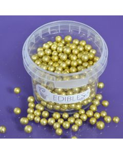 Purple Cupcakes 6mm Pearls - Gold - 100g