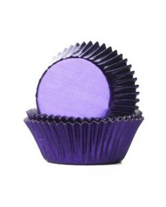 Purple Foil Cupcake Baking Cases - Pack of 500