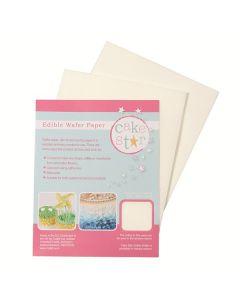 Cake Star White Wafer Paper (Pack of 12)