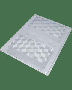 BWB 9891 - 3D Slab Chocolate Mould (24-N)