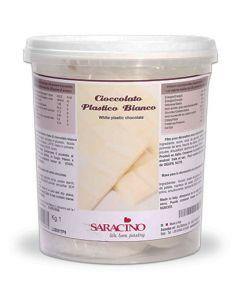 Saracino White Modelling Chocolate 1kg - Cracked Tub Only
