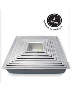 "PME Seamless Professional Bakeware - Square - 4"" x 3"""