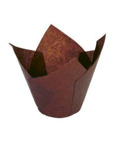 Brown Tulip Cupcake Case - pack of 200