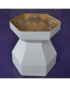 Cupcake Bouquet Box - Snowdrop White