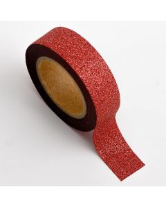 AT005 - Adhesive Washi Tape – Glitter – Red 15mm x 10m