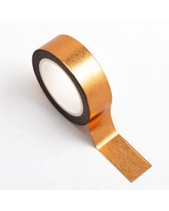 AT025 - Adhesive Washi Tape – Foil – Copper 15mm x 10m