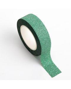 AT026 - Adhesive Washi Tape – Glitter – Green 15mm x 10m