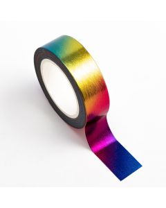 AT029 - Adhesive Washi Tape – Foil – Rainbow 15mm x 10m