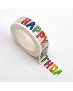 AT036 - Adhesive Washi Tape – Happy Birthday 15mm x 10m
