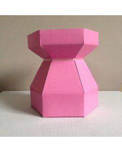 Cupcake Bouquet Box - Pink ( Marshmellow Pink)