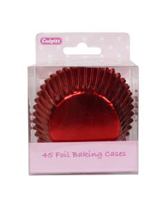 Red Foil Cupcake Baking Cases - pack of 45