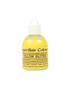 Sugarflair Airbrush Colour - Yellow Glitter