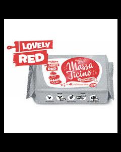 Massa Ticino Lovely Red Sugar Paste 250g