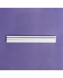 "8"" White Plastic Dowels (pack of 10)"
