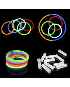 """12 x Neon Glow Sticks 8"""" Bracelet HALLOWEEN"""