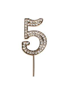 Diamante No 5 - Gold Colour Wire