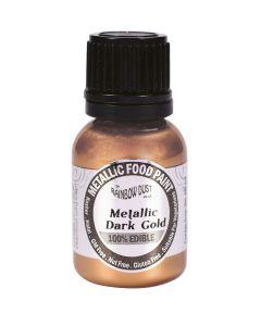 Rainbow Dust Metallic Edible Paint: Dark Gold (25ml)