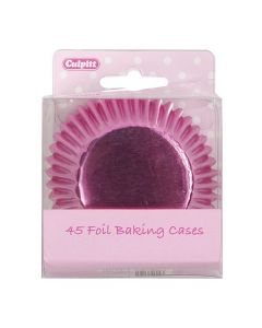 Pink Foil Cupcake Baking Cases (pack of 45)