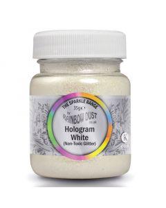 Rainbow Dust Non-Toxic/Non-Edible Decorators Glitter - White Hologram 35g