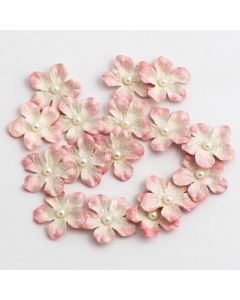 Glitter Paper Flowers Small – Pink (16 Pack)