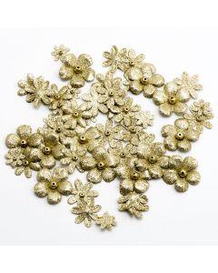 Glitzy Florals – Gold (50 Pack)