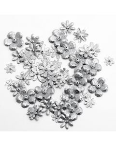 Glitzy Florals – Silver (50 Pack)